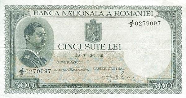 Romania 500 Lei (1936-1940-2)