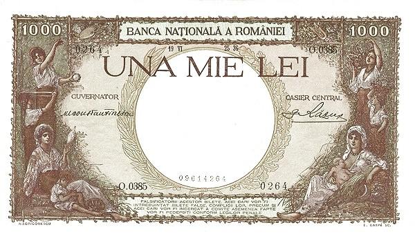 Romania 1000 Lei (1936-1940)
