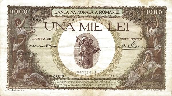 Romania 1000 Lei (1936-1940-2)