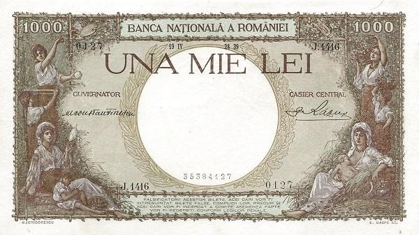 Romania 1000 Lei (1936-1940-3)