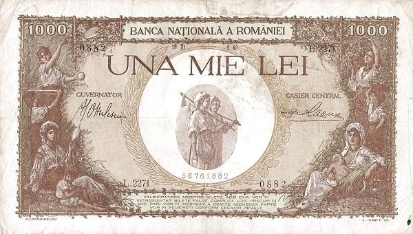 Romania 1000 Lei (1936-1940-4)
