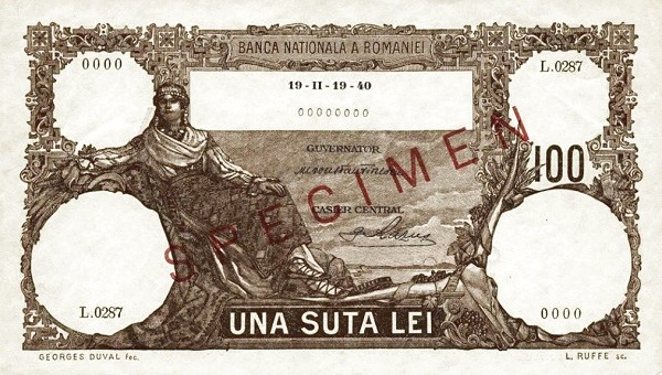 Romania 100 Lei (1940-1945)