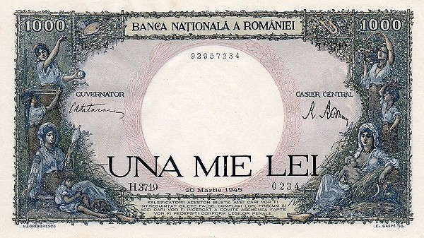 Romania 1000 Lei (1940-1945)