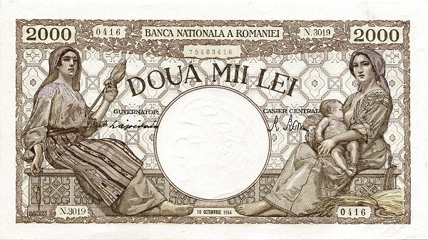 Romania 2000 Lei (1940-1945)