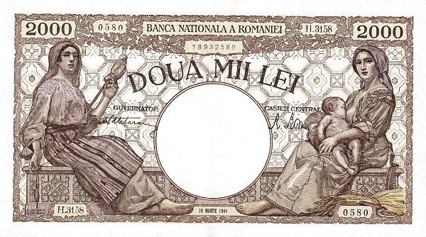 Romania 2000 Lei (1943-1947)