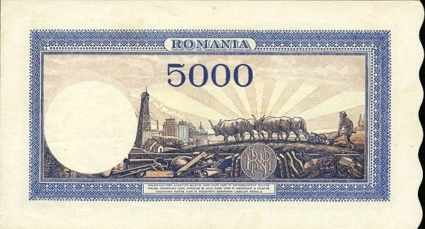 Romania 5000 Lei (1943-1947)