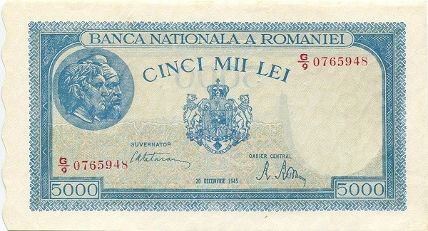 Romania 5000 Lei (1943-1947-2)