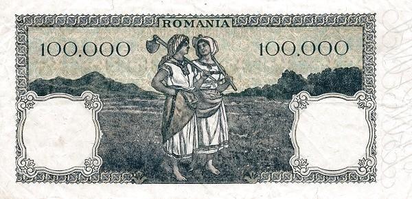 Romania 100000 Lei (1943-1947)