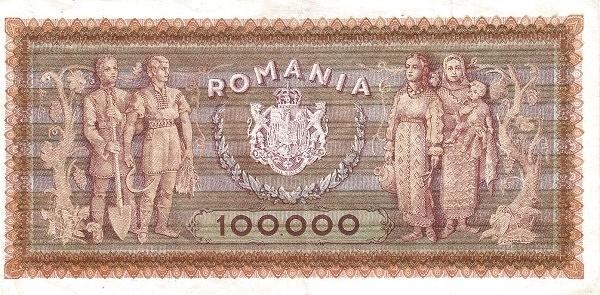 Romania 100000 Lei (1943-1947-2)