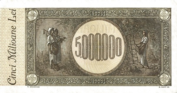 Romania 5000000 Lei (1943-1947)