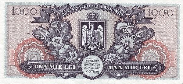 Romania 1000 Lei (1947 Second Issue-2)