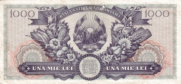"""Romania 1000 Lei (1948 """"Vladimirescu"""")"""