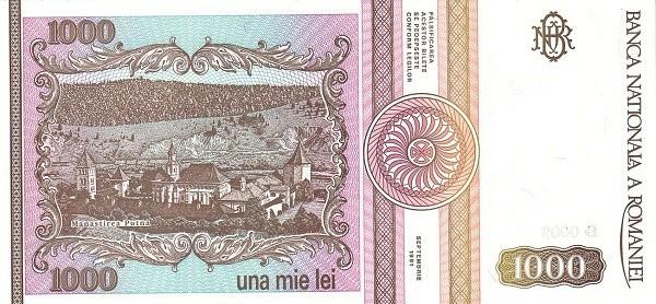 Romania 1000 Lei (1991-1994)