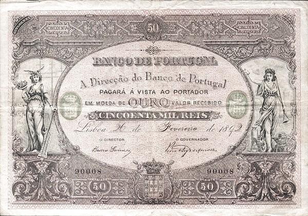 Portugal 50000 Réis (1884-1892)