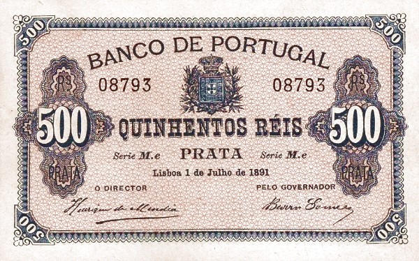 Portugal 500 Réis (1890-1891)