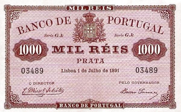 Portugal 1000 Réis (1890-1891)