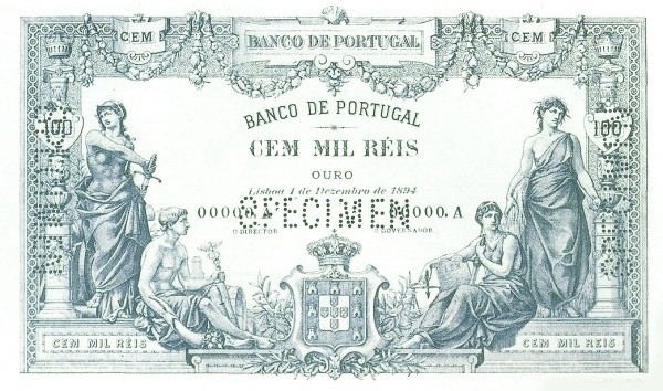 Portugal 100000 Réis (1893-1909)