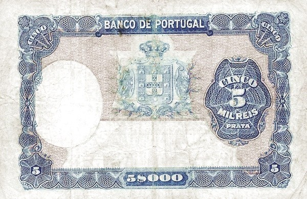 Portugal 5000 Réis (1903-1910)