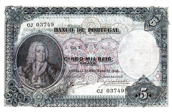 Portugal 5000 Réis (1906-1910)