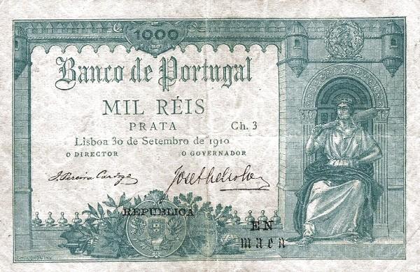 Portugal 1000 Réis (1916-1919)