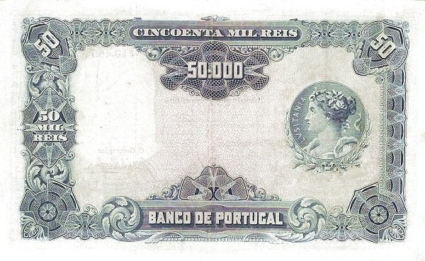 Portugal 50000 Réis (1916-1919)