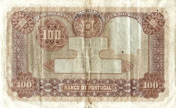 Portugal 100000 Réis (1916-1919)