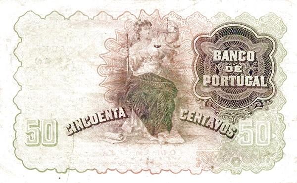 Portugal 50 Centavos (1913-1923 Escudo Ouro)