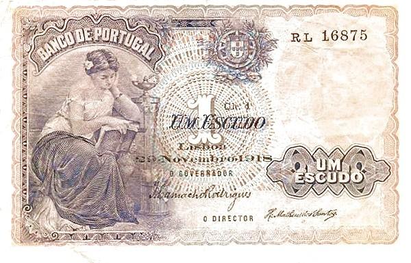 Portugal 1 Escudo (1913-1923 Escudo Ouro)