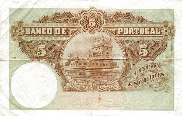 Portugal 5 Escudos (1913-1923 Escudo Ouro)