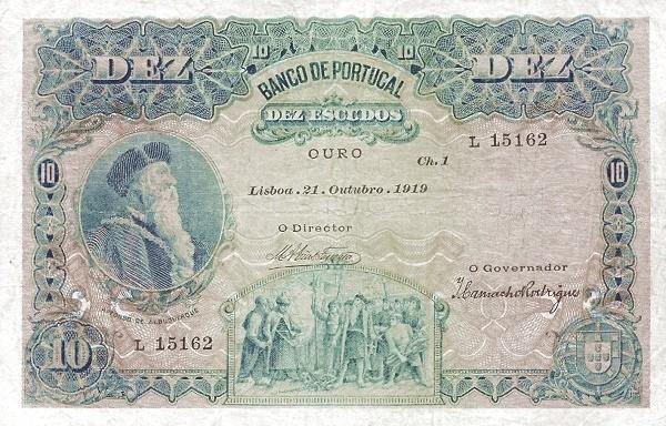 Portugal 10 Escudos (1919-1920)