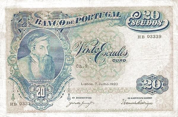 Portugal 20 Escudos (1919-1920)