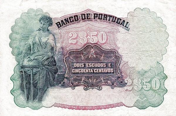 Portugal 2.5 Escudos (1920-1928)