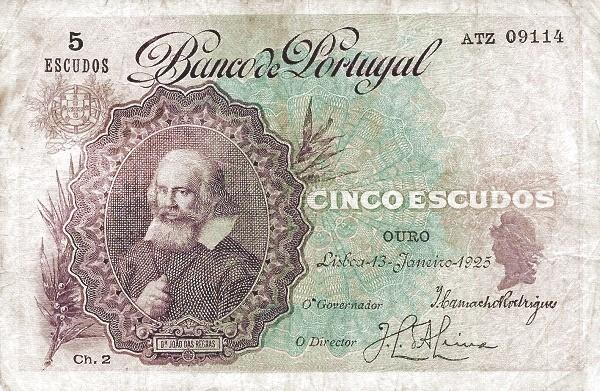 Portugal 5 Escudos (1920-1928)