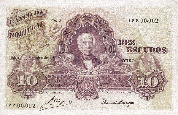 Portugal 10 Escudos (1920-1928)