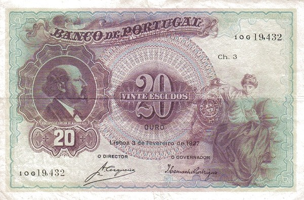 Portugal 20 Escudos (1920-1928)