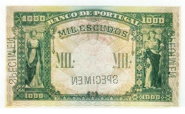 Portugal 1000 Escudos (1920-1928-2)