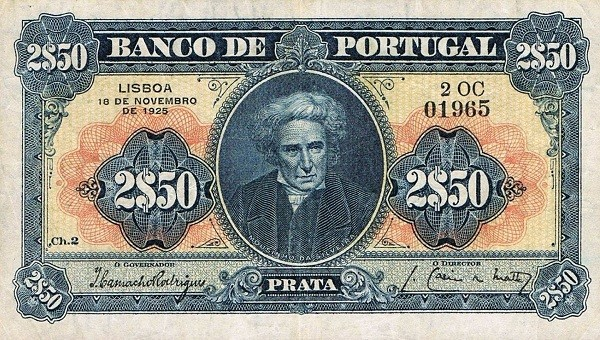 Portugal 2,5 Escudos (1922-1926)