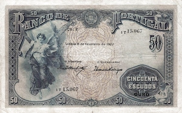 Portugal 50 Escudos (1922-1926)