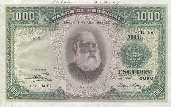 Portugal 1000 Escudos (1922-1926)