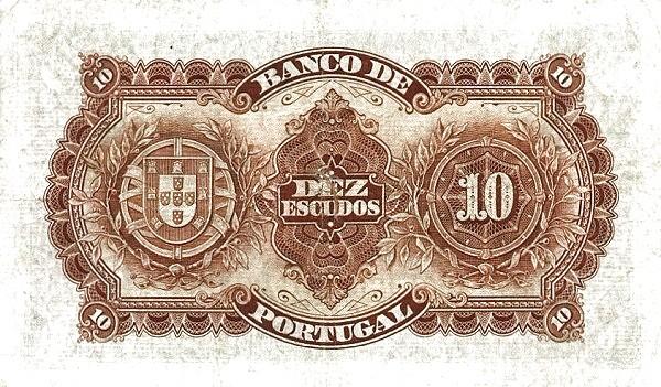 Portugal 10 Escudos (1924-1925)