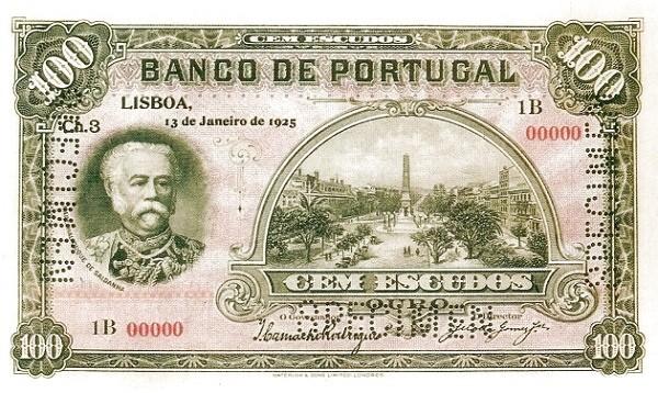 Portugal 100 Escudos (1924-1925)