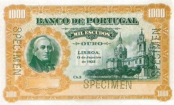 Portugal 1000 Escudos (1924-1925)