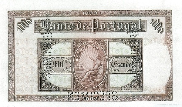Portugal 1000 Escudos (1927-1930)