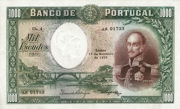Portugal 1000 Escudos (1929-1940)