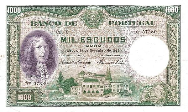 Portugal 1000 Escudos (1932-1934)