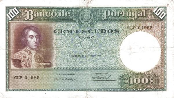 Portugal 100 Escudos (1935-1941)