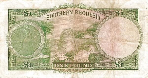 "Southern Rhodesia 1 Pound (1939-1952 ""George VI"")"