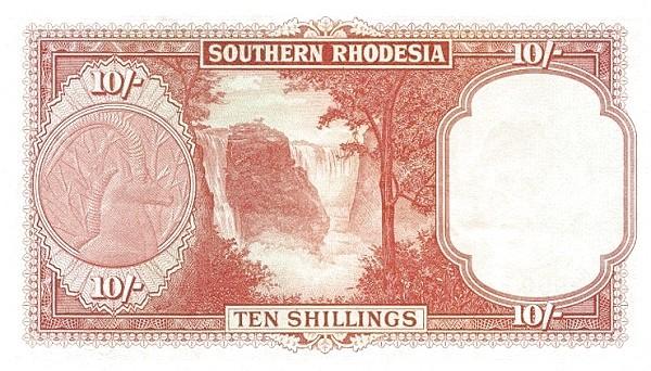 """Southern Rhodesia 10 Shillings (1952-1954 """"Elizabeth II"""")"""