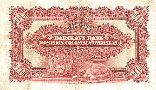 Rhodesia 10 Shillings (1926-1937)