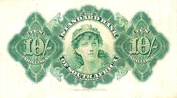 Rhodesia 10 Shillings (1917-1938)